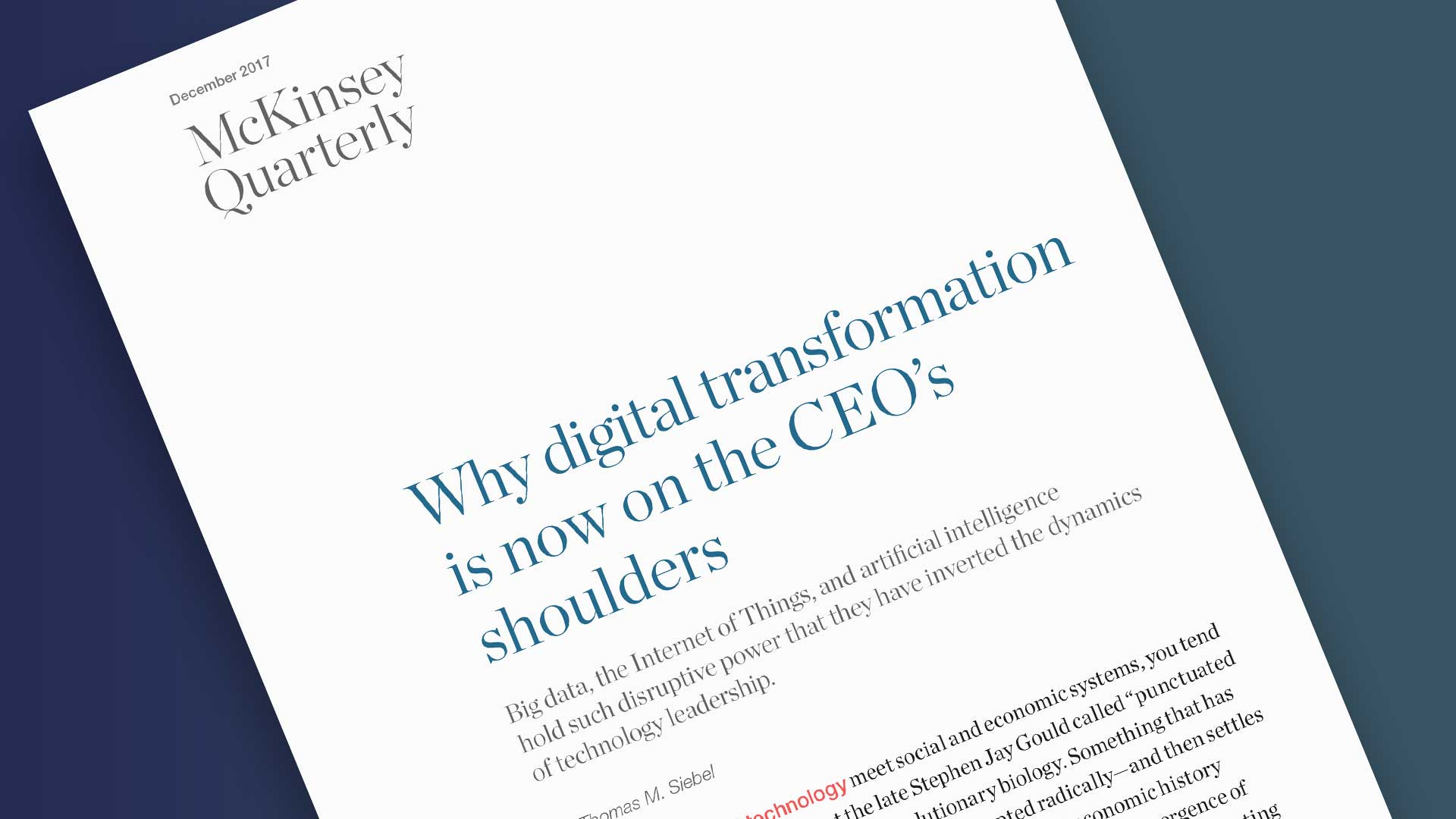 Digital Transformation McKinsey Report