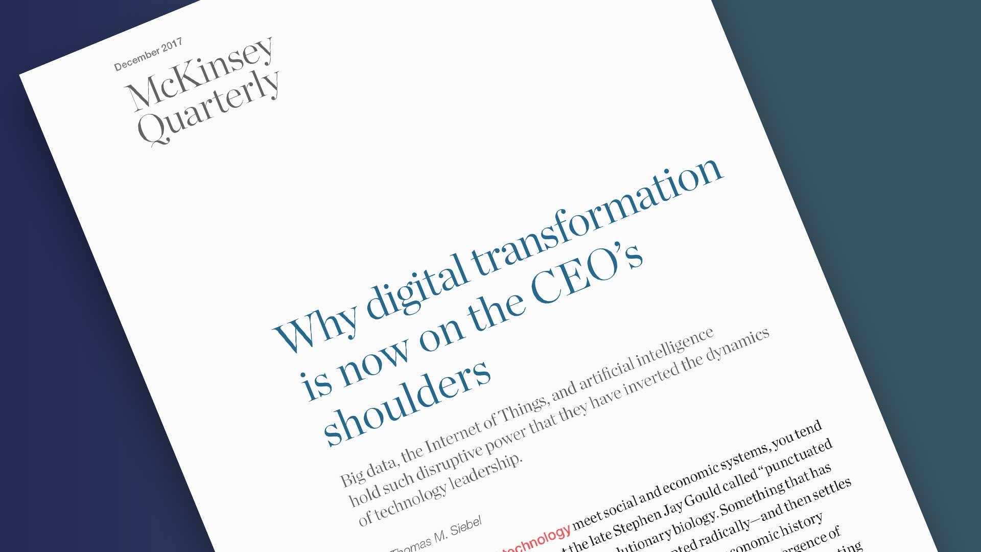 Digital Transformation McKinsey Report