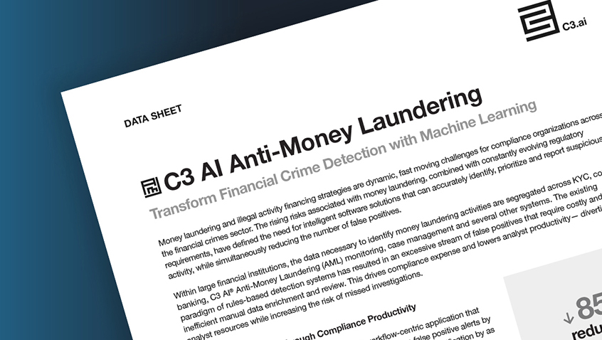 C3.ai Anti-Money Laundering