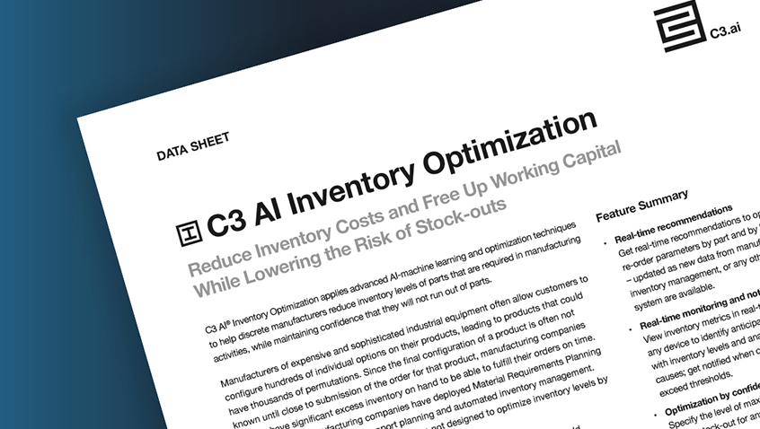 C3.ai Inventory Optimization