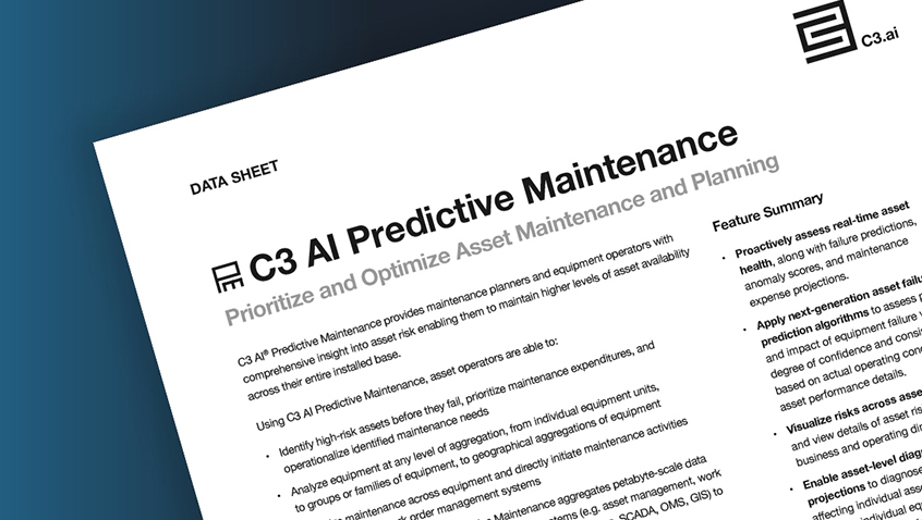 C3.ai Predictive Maintenance