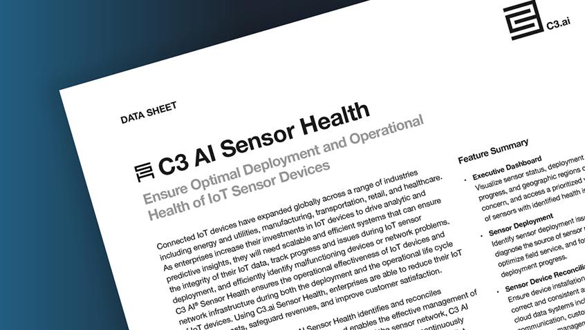 C3.ai Sensor Health