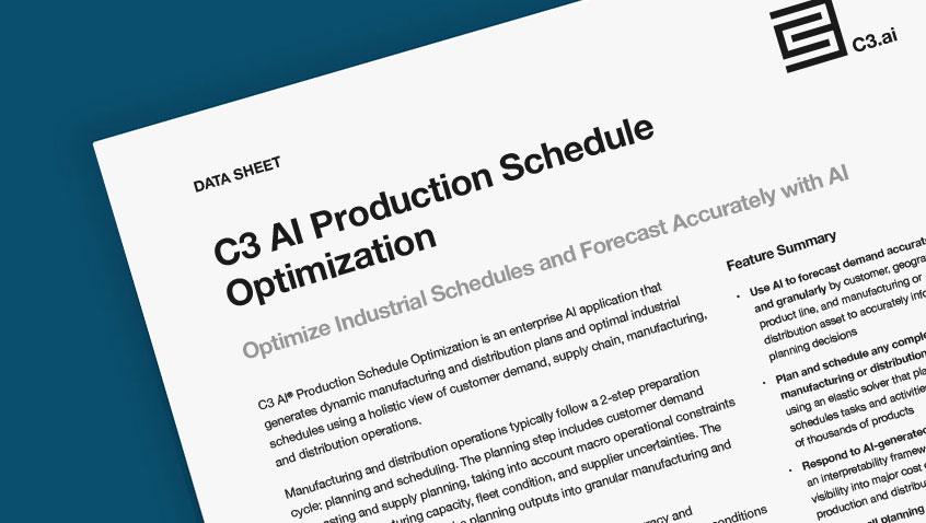 C3 AI Production Schedule Optimization
