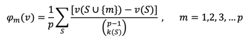 Shapely Values formula
