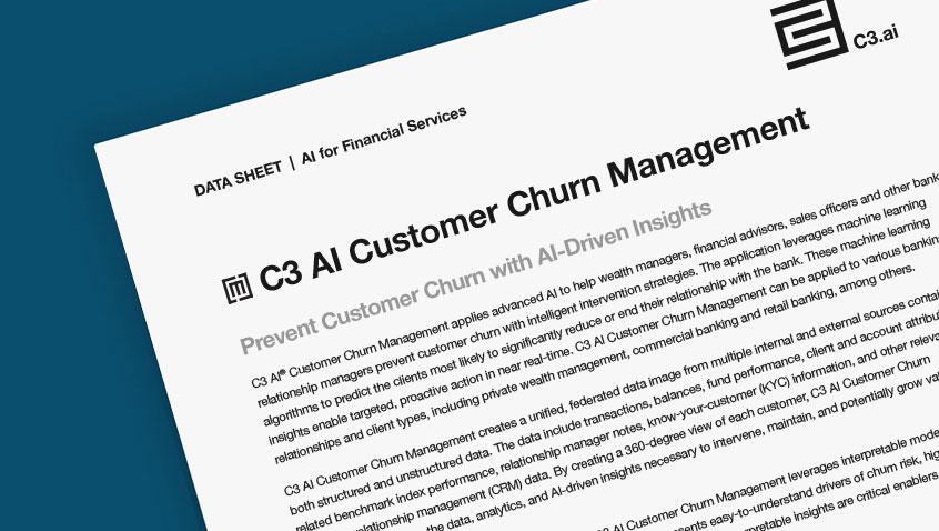 C3 AI Customer Churn Management