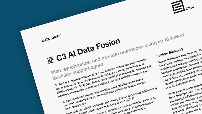 C3 AI Data Fusion