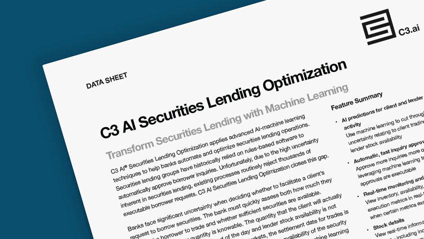 C3 AI Securities Lending Optimization