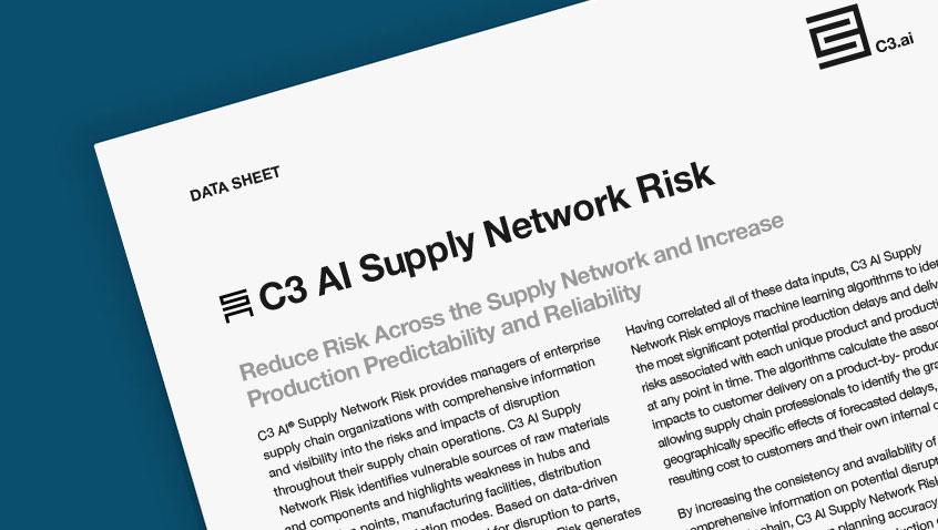 C3 AI Supply Network Risk