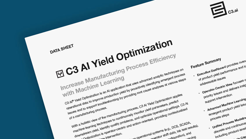 C3 AI Yield Optimization